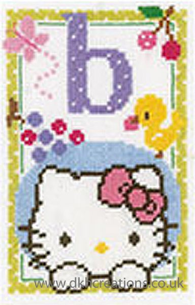Hello Kitty Alphabet Letter B Cross Stitch Kit